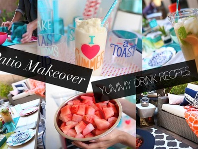 Patio Decor Makeover & Summer DIY Drinks | ANNEORSHINE