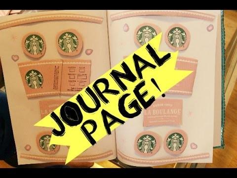 PINK Starbucks Journal Page DIY & Tutorial