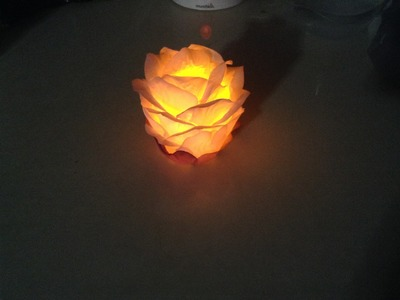 Recycle : How to make a rose petal lantern