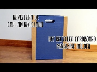 Revistero de cartón reciclado - Recycled cardboard magazine holder
