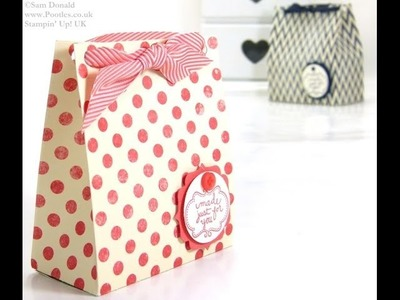 Soap Gift Treat Bag Tutorial by Stampin' Up! UK Independent Demonstrator Pootles