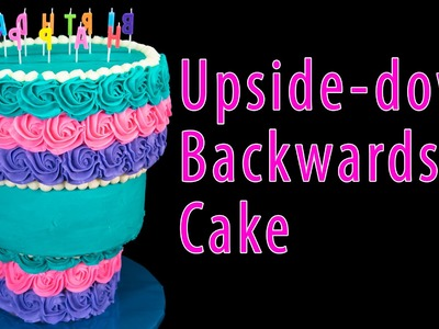 Upside-down Backwards Cake from Cookies Cupcakes and Cardio