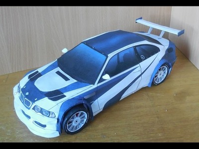 [VašekVlog] BMW M3 Need For Speed Most Wanted Paper Model