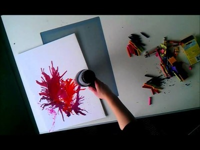 Watch me make abstract art using melted crayons!