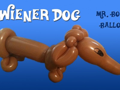 Wiener Dog Balloon Animal Tutorial (Sausage Dog) (Balloon Twisting & Modeling #14)