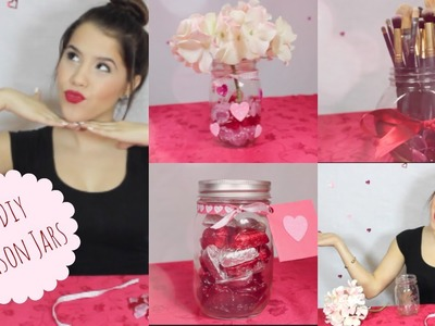 3 Valentine's Day Mason Jars | Room Decor + Gift Ideas!