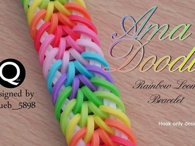 Ama Doodle Rainbow Loom Bracelet - hook only