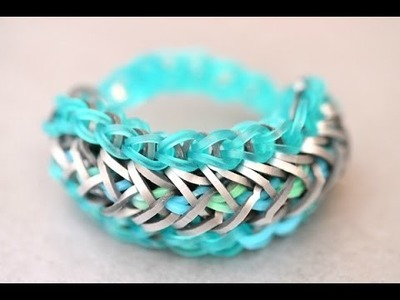 Arrow Stitch Rainbow Loom Bracelet Designs