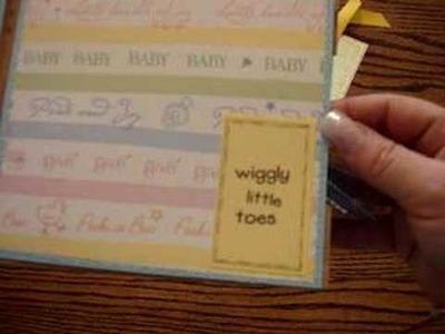 Baby scrapbook album ScrapOnThis.com