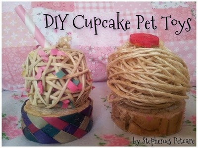DIY Cupcake toys for hamsters, gerbils, chinchillas etc :)