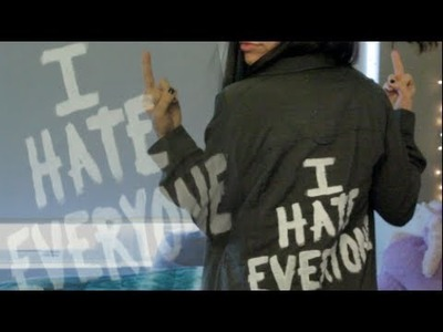 DIY: I HATE EVERYONE TOP (Inspired by Jac Vanek's Top)