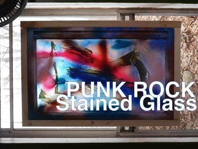 "DIY Punk Rock ""Stained Glass""- Using Fogged Free Windows. ."