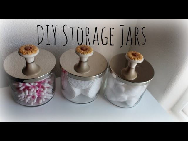 DIY Storage Jars Using Bath and Body Works Candle Jars