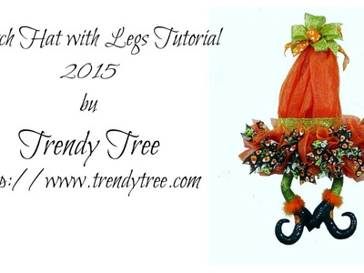 DIY Witch Hat with Legs 2015 Tutorial by Trendy Tree