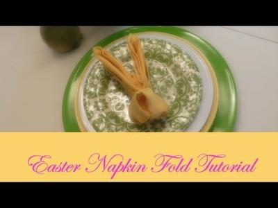 Easter Napkin Fold Tutorial