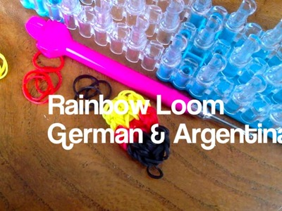 Fifa World Cup 2014 German & Argentina Flag Badge Rainbow Loom