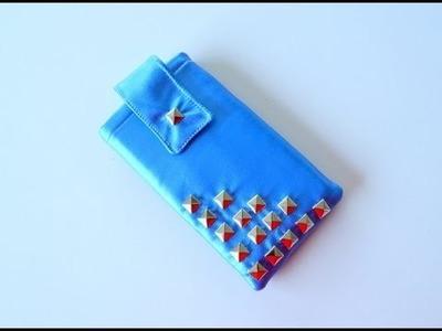 Funda para móvil con tachuelas - Faux leather studded phone sleeve