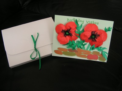 Handmade cards with paper flowers - part lll