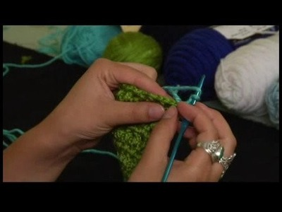 How to Crochet a Scarf : Adding Solid Double Crochet Trim to Scarf