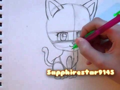 How to draw Manga: Drawing Chibi Cat