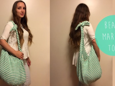 HOW TO KNIT-MARKET.BEACH TOTE