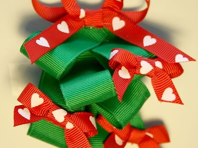 How to make a Christmas tree hairbow *tutorial*