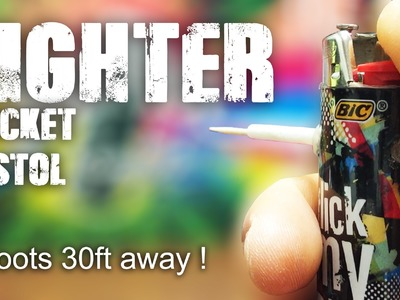 How To Make a Lighter Pocket Pistol - Mini Lighter Gun