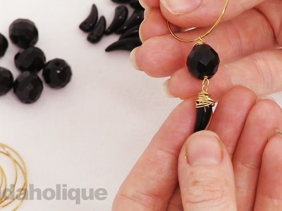 How to Make a Pair of Wire Wrapped Tooth Bead Earrings