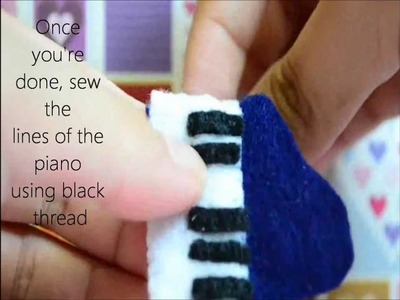 How to Make a Piano Plush From Felt