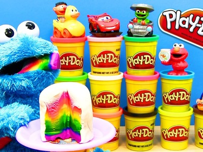 How To Make A Play-Doh Rainbow Cake Before Cookie Monster Is Eating It Play-Dough