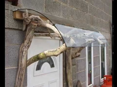 How to make a Porch using driftwood and reclaimed material