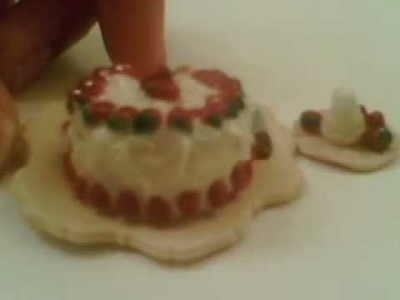 How to make a Strawberry Clay Cake My first try