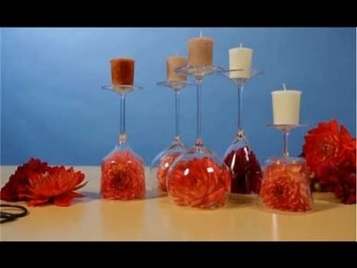 How to Make Inverted Wine Glass Table Centerpieces