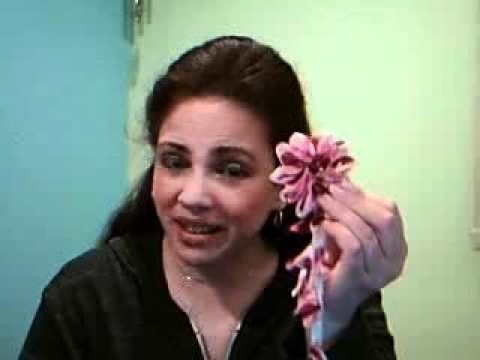 How to Make Kanzashi Flowers with Ribbon Tails Part 1.swf