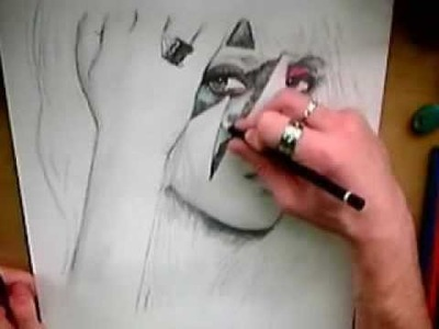 Lady GaGa Born This Way Drawing,  Nathan Wyburn