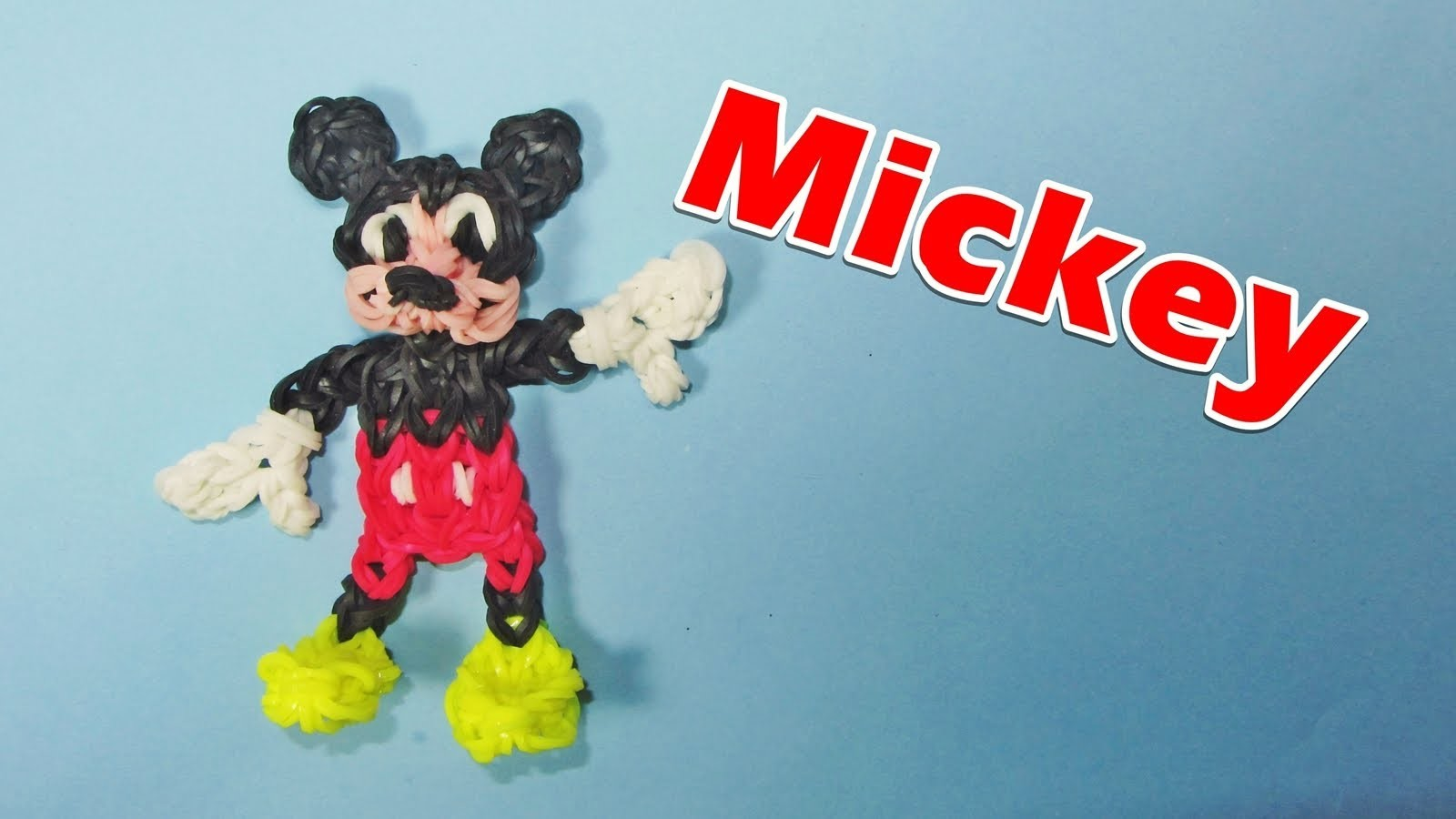 Loom Bands. Rainbow Loom MICKEY MOUSE Charm (Disney) How to Make
