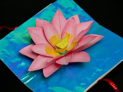 Lotus Flower Pop Up Card