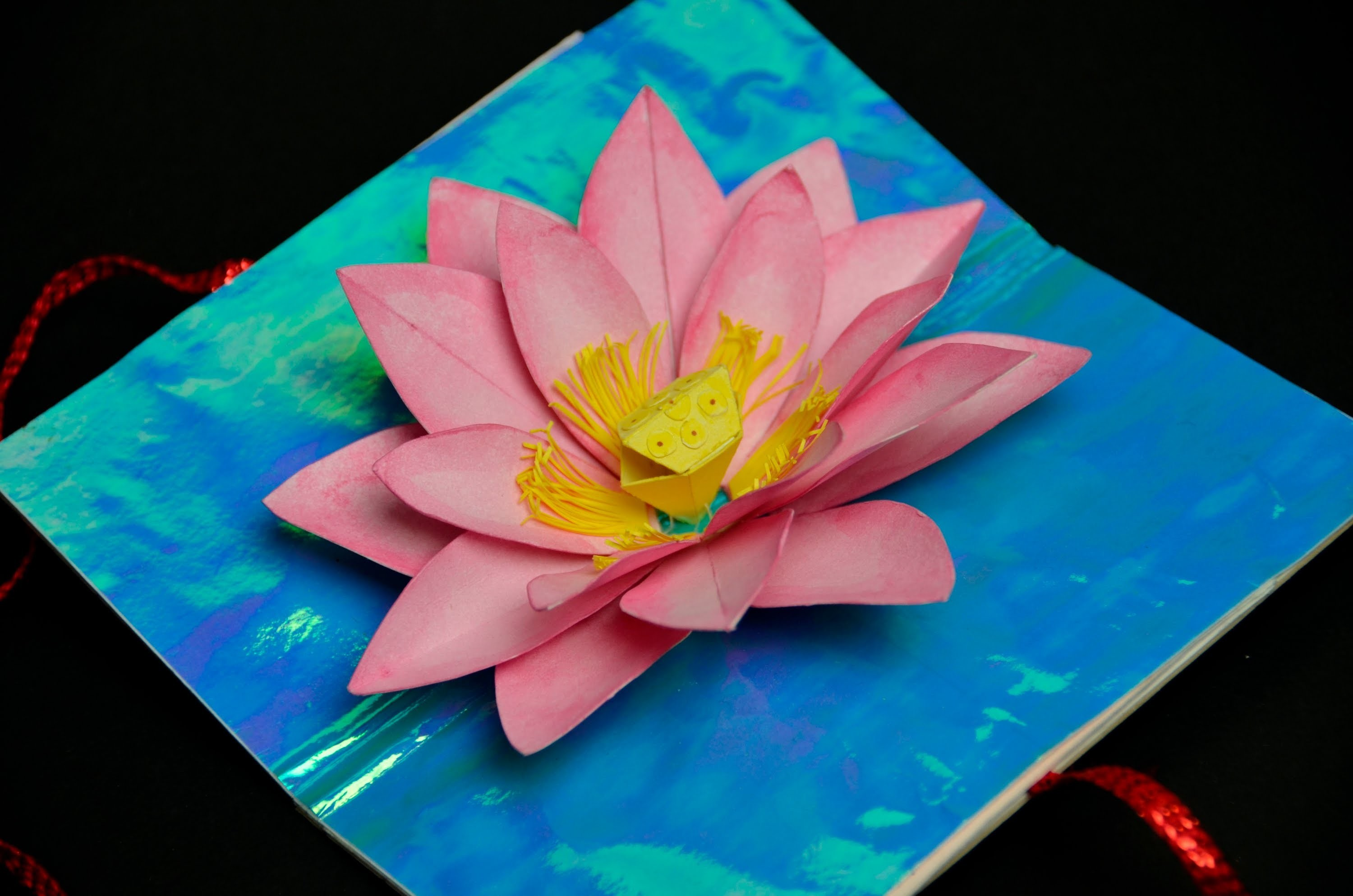Lotus Flower Pop Up Card