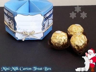Mini Milk Carton Treat Box ( Especial De Navidad )