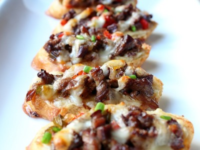Mini Philly Cheesesteaks Super Bowl Recipe - Yo! Bite-Sized Philly Cheese Steaks!
