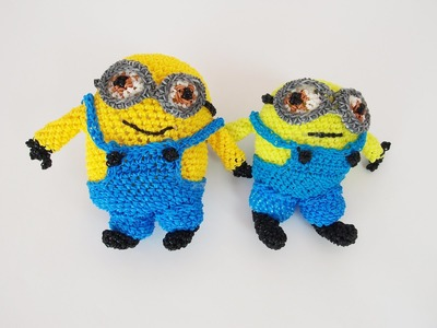 "Minion ""Bob"" Rainbow Loom Bands Amigurumi Loomigurumi Hook Only Tutorial"