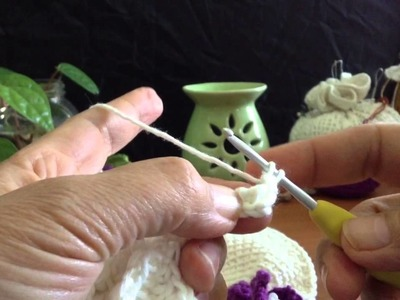 Moon Orchid Tunisian Crochet Flower Video 3