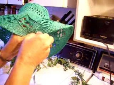 Nancy Today: How to Decorate a hat 1