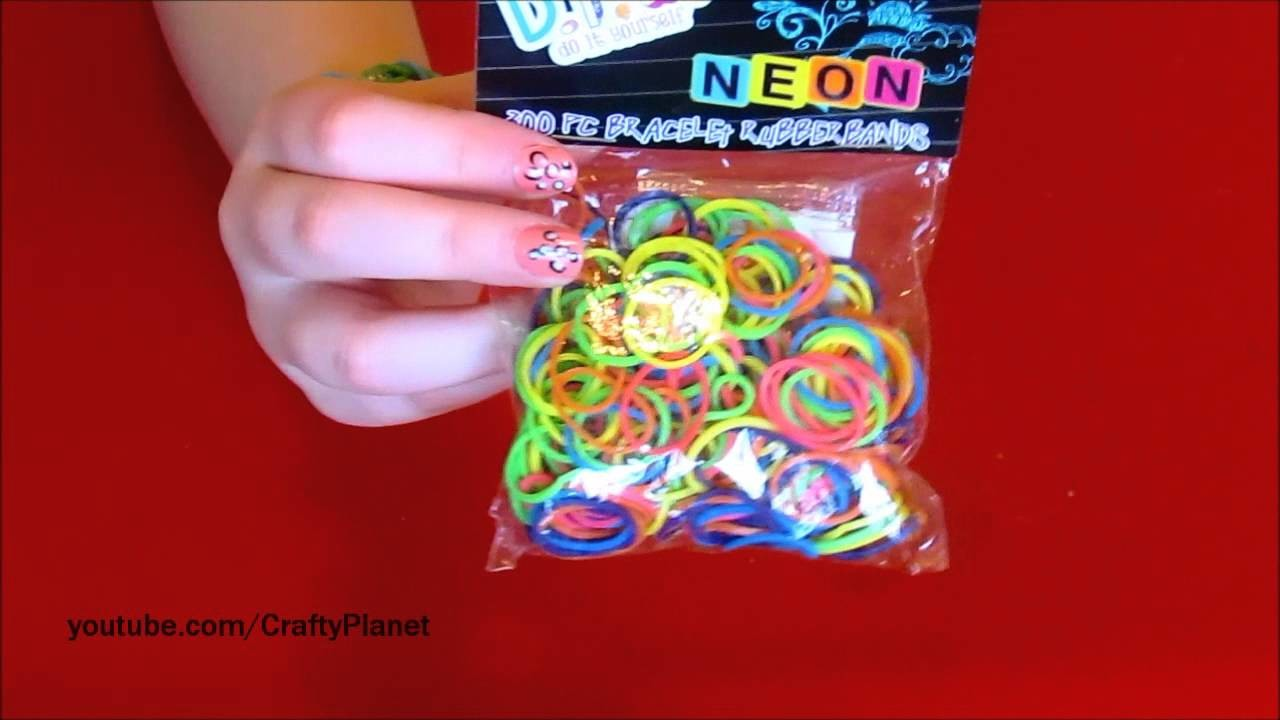 NEON Rainbow Loom Rubber Band Haul - Rubber Band Bracelets, Rings, Charms and More Twistz Bandz