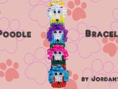 New Poodle Dog Bracelet - Alpha Loom. Rainbow Loom