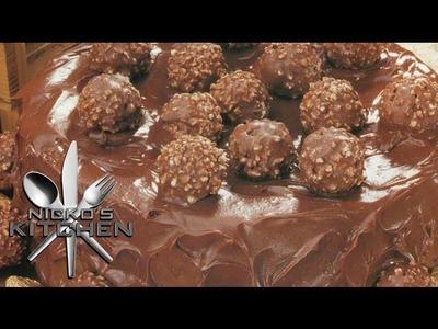 NUTELLA & FERRERO CHOCOLATE CAKE - Nicko's Kitchen