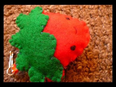 Plush Tutorial - How to Make a Cute Strawberry Keyring