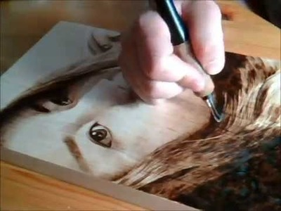 Pyrography art by jean bouick