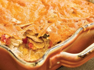 Quick-Fixes with Rotisserie Chicken - Light King Ranch Chicken Casserole Recipe