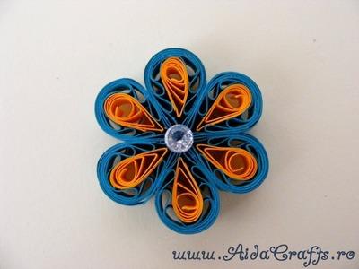 ✿ Quilling - Floare - Tutorial 4 - AidaCrafts